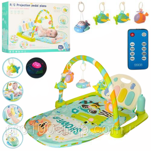 Saltea activitatii Baby Piano Gym cu telecomanda 8