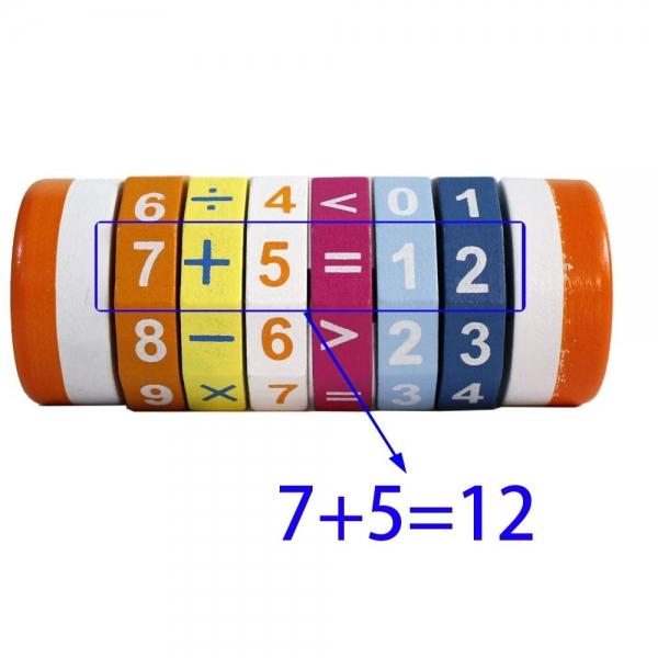 Cilindru Cub din lemn Puzzle Aritmetic  Onshine 5