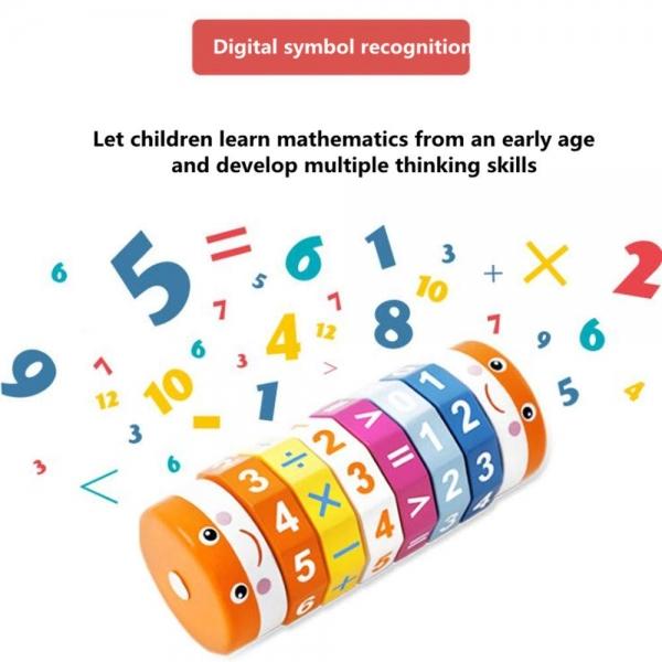 Cilindru Cub din lemn Puzzle Aritmetic  Onshine 8