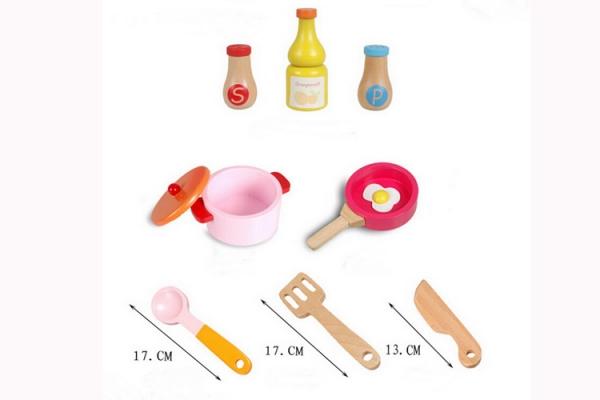 Bucatarie de jucarie de lemn Pink Kitchen 2