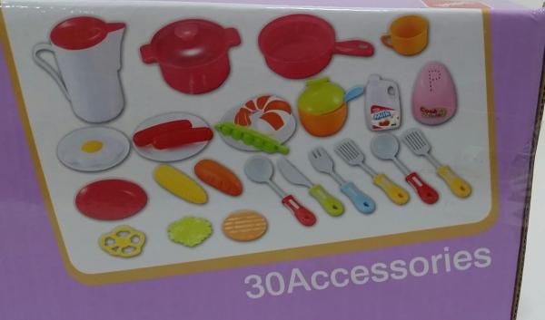 Bucatarie de jucarie copii Cook Fun 30 piese 4