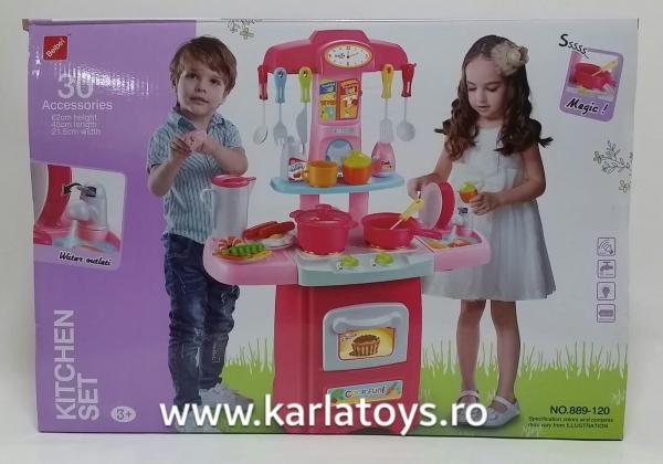 Bucatarie de jucarie copii Cook Fun 30 piese 1