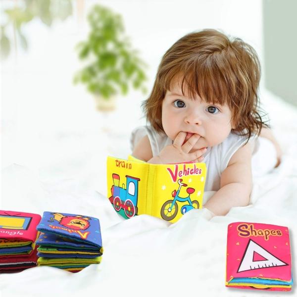 Set 6 carti bebelusi senzoriale - Prima mea carte material textil Top Bright 5