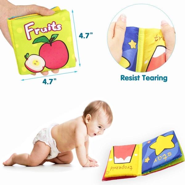Set 6 carti bebelusi senzoriale - Prima mea carte material textil Top Bright 4