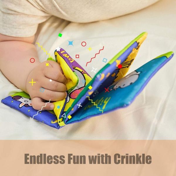 Set 6 carti bebelusi senzoriale - Prima mea carte material textil Top Bright 6
