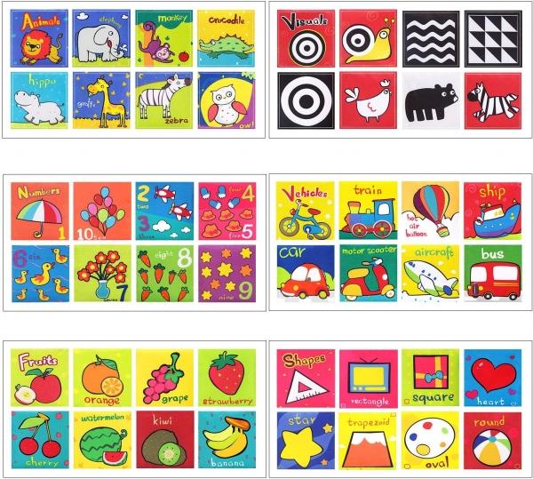 Set 6 carti bebelusi senzoriale - Prima mea carte material textil Top Bright 8