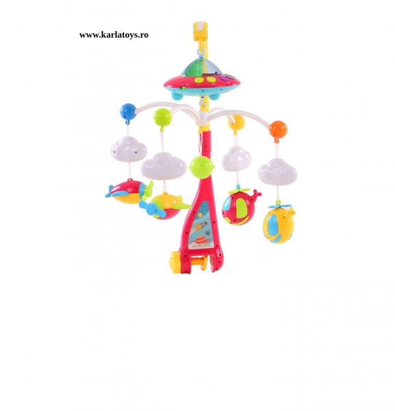 Carusel pentru copii cu avioane si elicoptere Dream world 0
