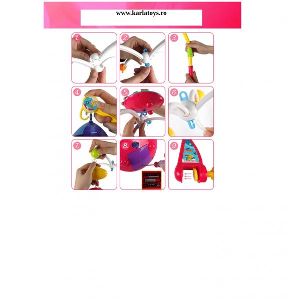Carusel pentru copii cu avioane si elicoptere Dream world 6