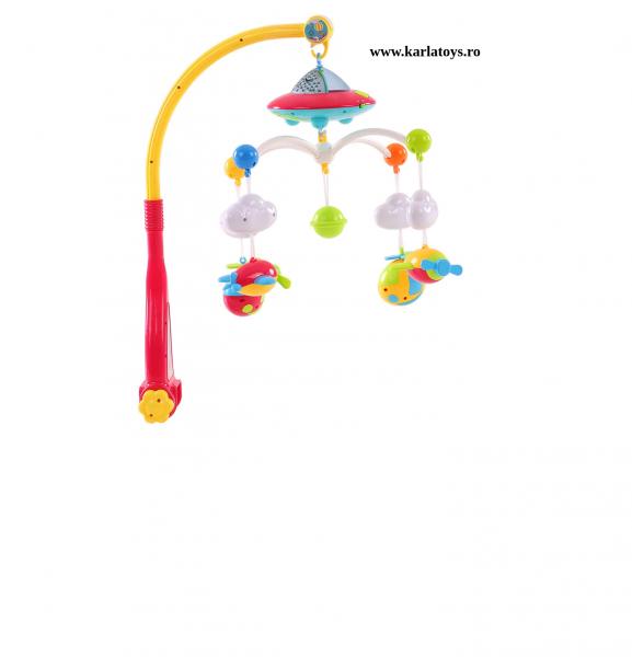 Carusel pentru copii cu avioane si elicoptere Dream world 2