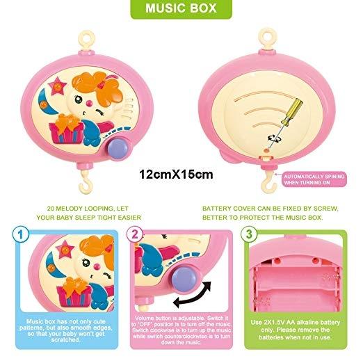Carusel pentru copii musical mobile -jucarii din plus 4