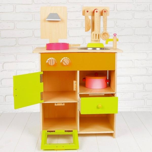 Bucatarie de lemn copii Clasica cu accesorii 6