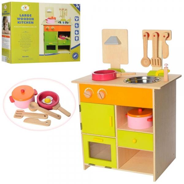 Bucatarie de lemn copii Clasica cu accesorii 1