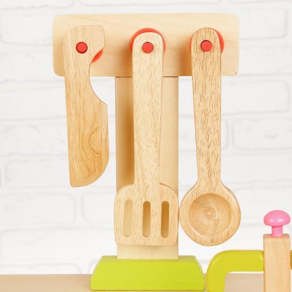 Bucatarie de lemn copii Clasica cu accesorii 4