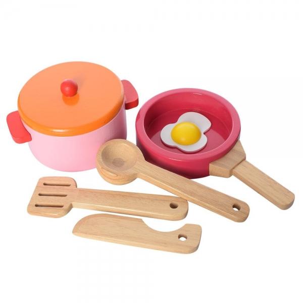 Bucatarie de lemn copii Clasica cu accesorii 2
