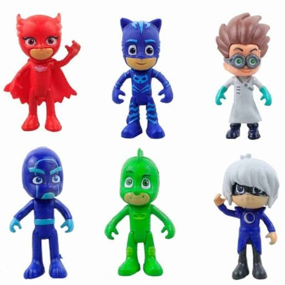 Set 6 figurine Eroii in Pijama pentru copii 0