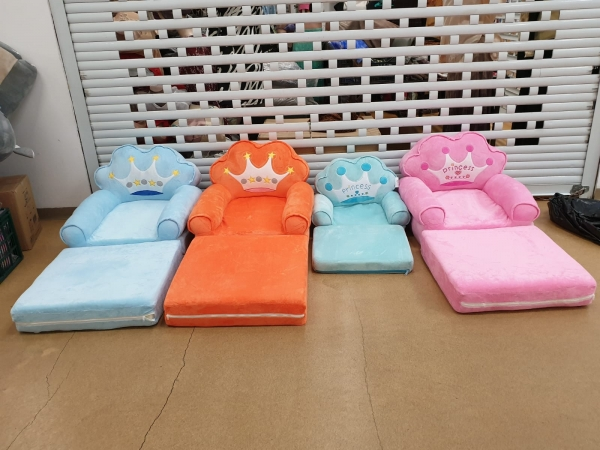 Fotoliu de plus extensibil Princess Mare pentru copii Albastru sau Portocaliu 3