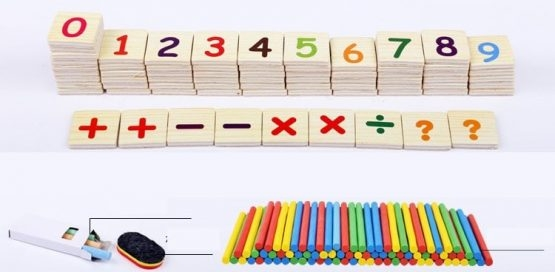 Set educational din lemn matematica 6