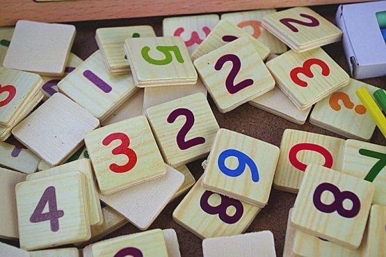 Set educational din lemn matematica 7