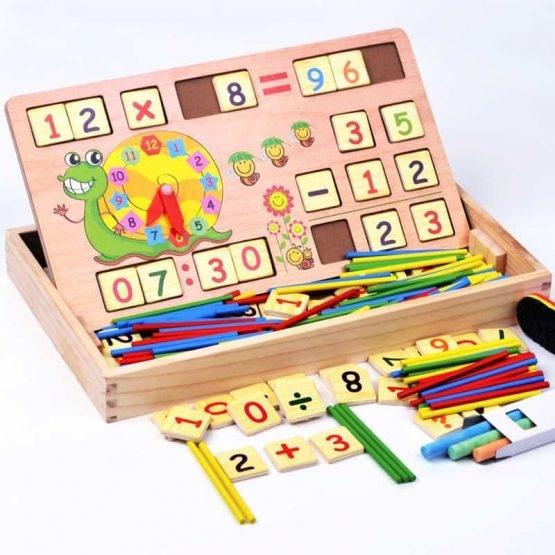 Set educational din lemn matematica 1