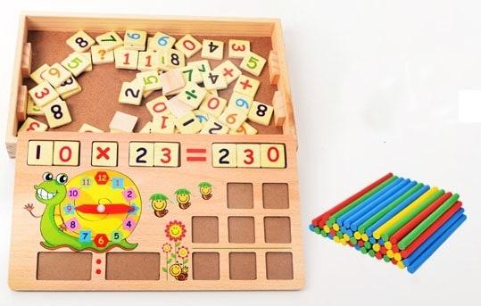 Set educational din lemn matematica 4