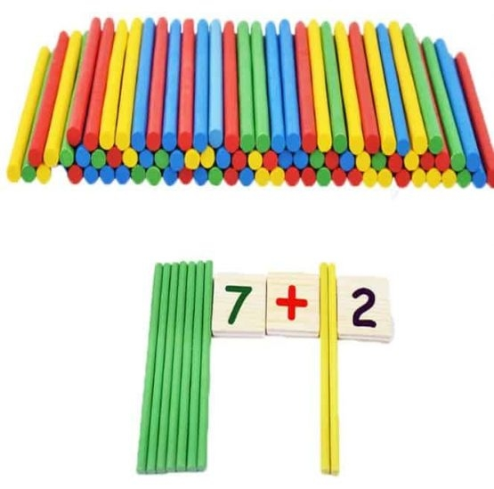 Set educational din lemn matematica 5