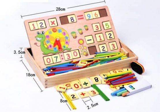 Set educational din lemn matematica 0