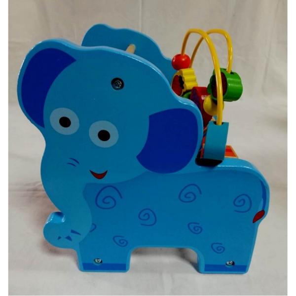 Jucarie educativa 3 in 1 Girafa( Abac cu bile)Elefantel - Leu 5