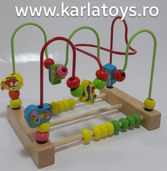 Jucarie  Montessori labirint cu bile si abac 2