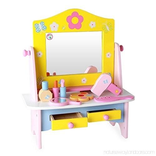 Masuta de toaleta din lemn cu accesorii Dresser 4