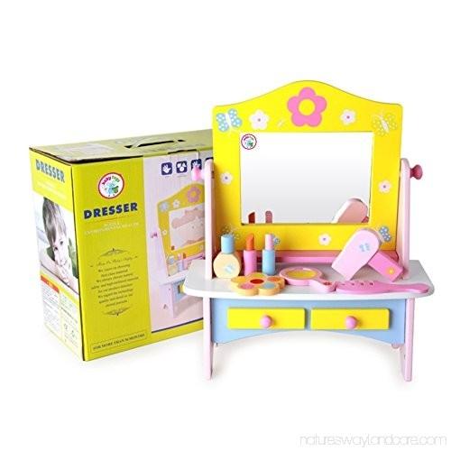 Masuta de toaleta din lemn cu accesorii Dresser 0