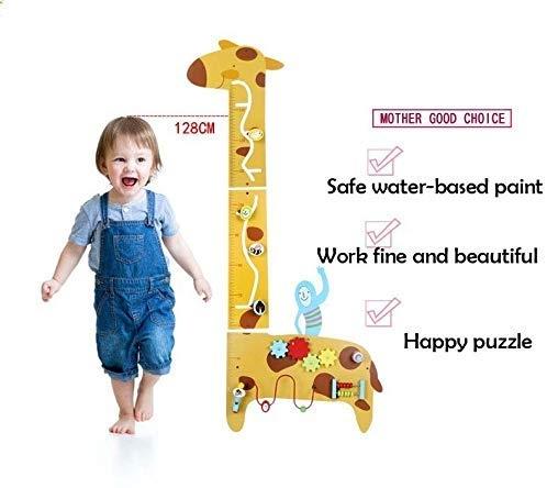 Placa de masurat din lemn Girafa cu activitatii copii - Panou cu activitatii si masuratoare copii 3