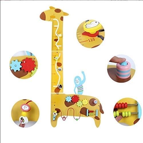 Placa de masurat din lemn Girafa cu activitatii copii - Panou cu activitatii si masuratoare copii 2