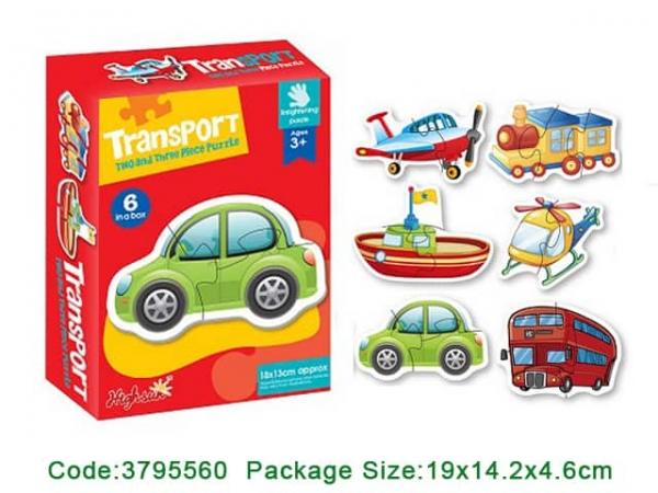 Puzzle bebe animale din doua si patru piese   4 seturi 2