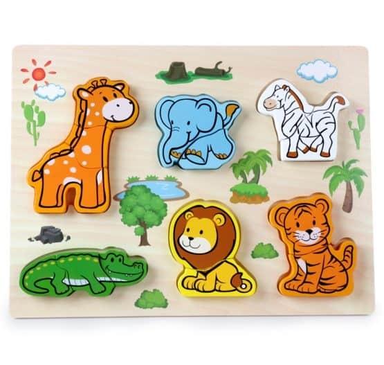 Puzzle lemn 3D Legume,insecte,animale,ferma,masinute 2