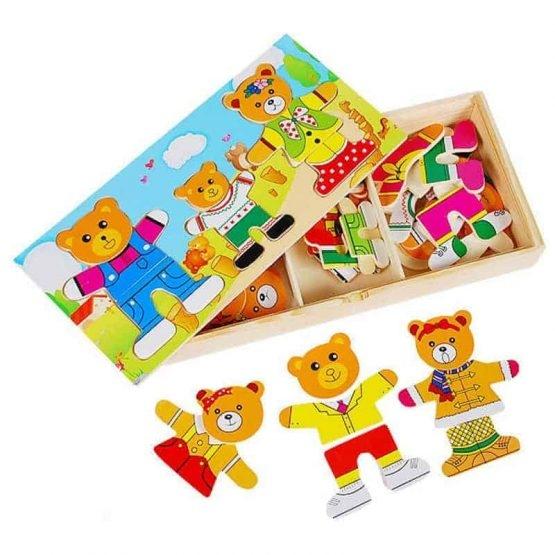 Puzzle lemn 3 ursuleti 0