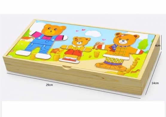 Puzzle lemn 3 ursuleti 1