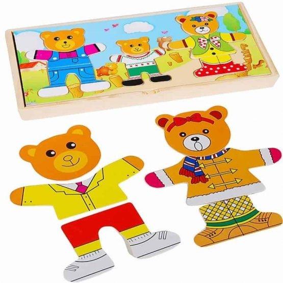 Puzzle lemn 3 ursuleti 2