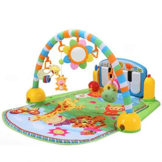 Saltea de joaca bebe cu centru activitati 4 in 1 Piano 0