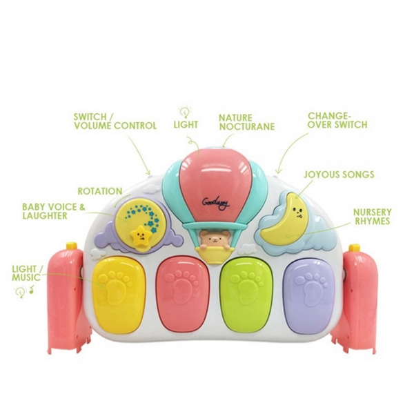 Saltea de joaca bebe cu pian Garden 6