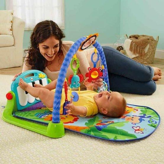 Saltea de joaca bebe cu centru activitati 4 in 1 Piano 4