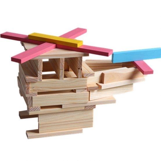 Set 150 de cuburi din lemn de constructie 3