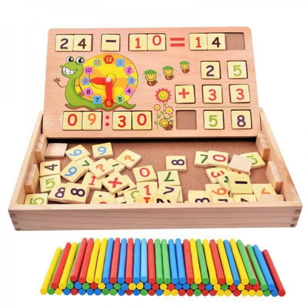Set educational din lemn matematica 2