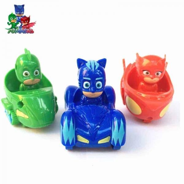 Set  figurine cu masinute Eroii in Pijama 0