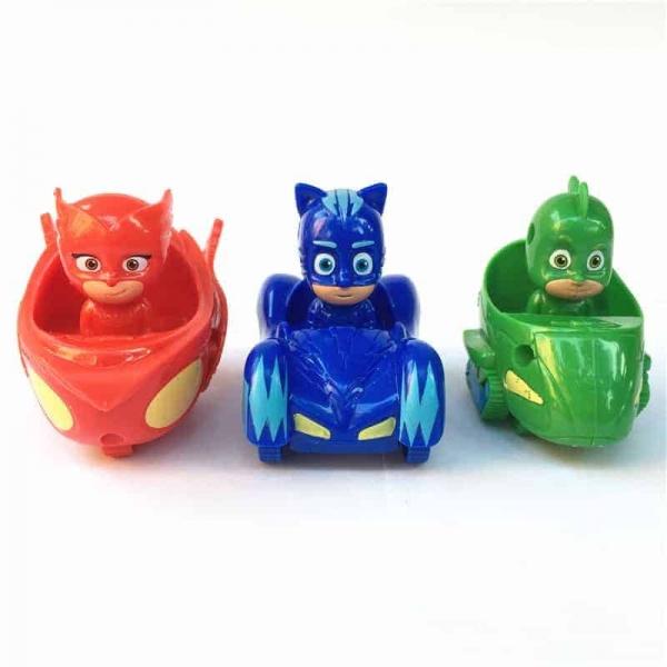 Set  figurine cu masinute Eroii in Pijama 1