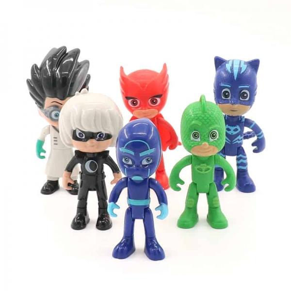Set 6 figurine Eroii in Pijama pentru copii 2
