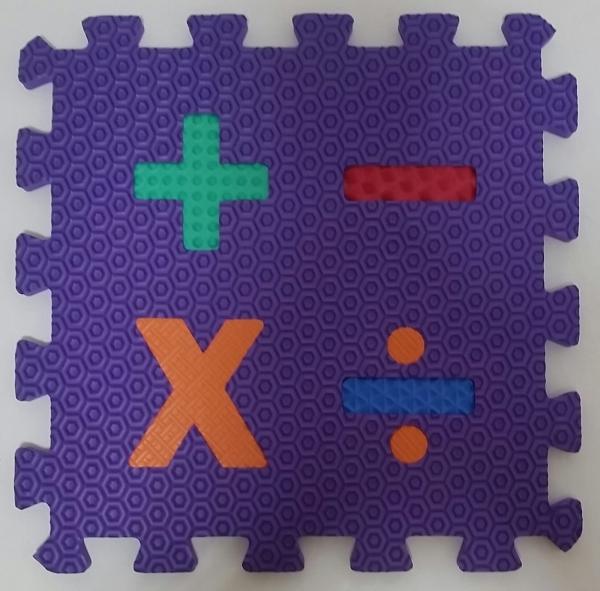 Set puzzel 10 piese cifre si litere  mari 31/31 cm 7
