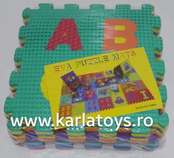 Set puzzel 10 piese cifre si litere  mari 31/31 cm 0
