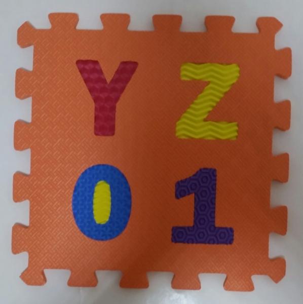 Set puzzel 10 piese cifre si litere  mari 31/31 cm 8