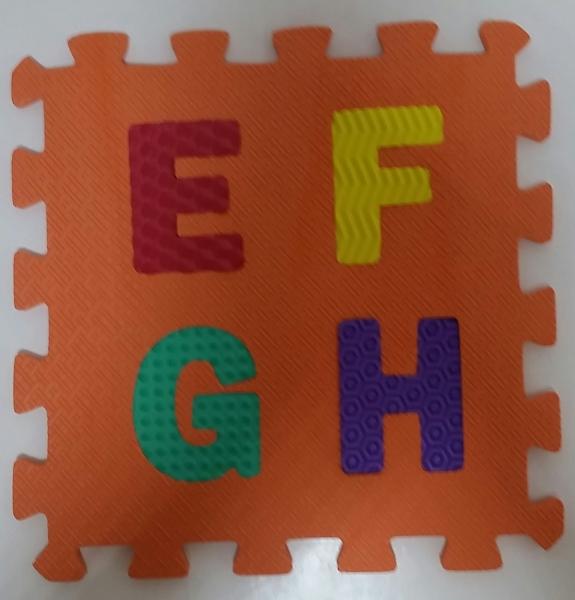 Set puzzel 10 piese cifre si litere  mari 31/31 cm 2