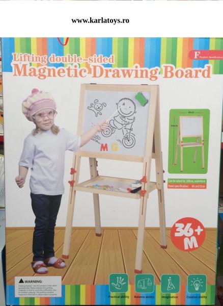 Tabla magnetica din lemn 2 fete Mare 0